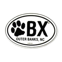 OBX Dog Paw Sticker