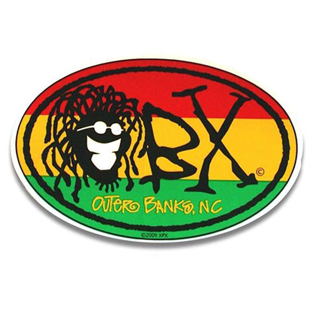 OBX Oval Rasta Sticker