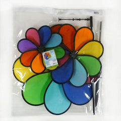 Triple Wheel 24 Petal Flower Wind Spinner