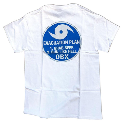 OBX Hurricane Evacuation Plan Adult Short Sleeve T