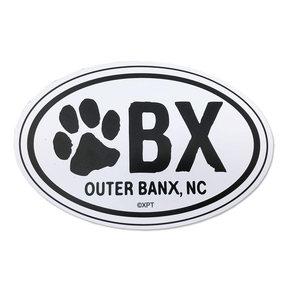 OBX Dog Paw Oval Magnet