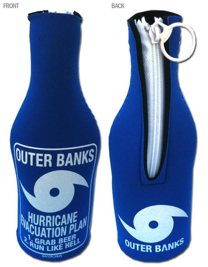 OBX Hurricane Evacuation Plan Bottle Huggie