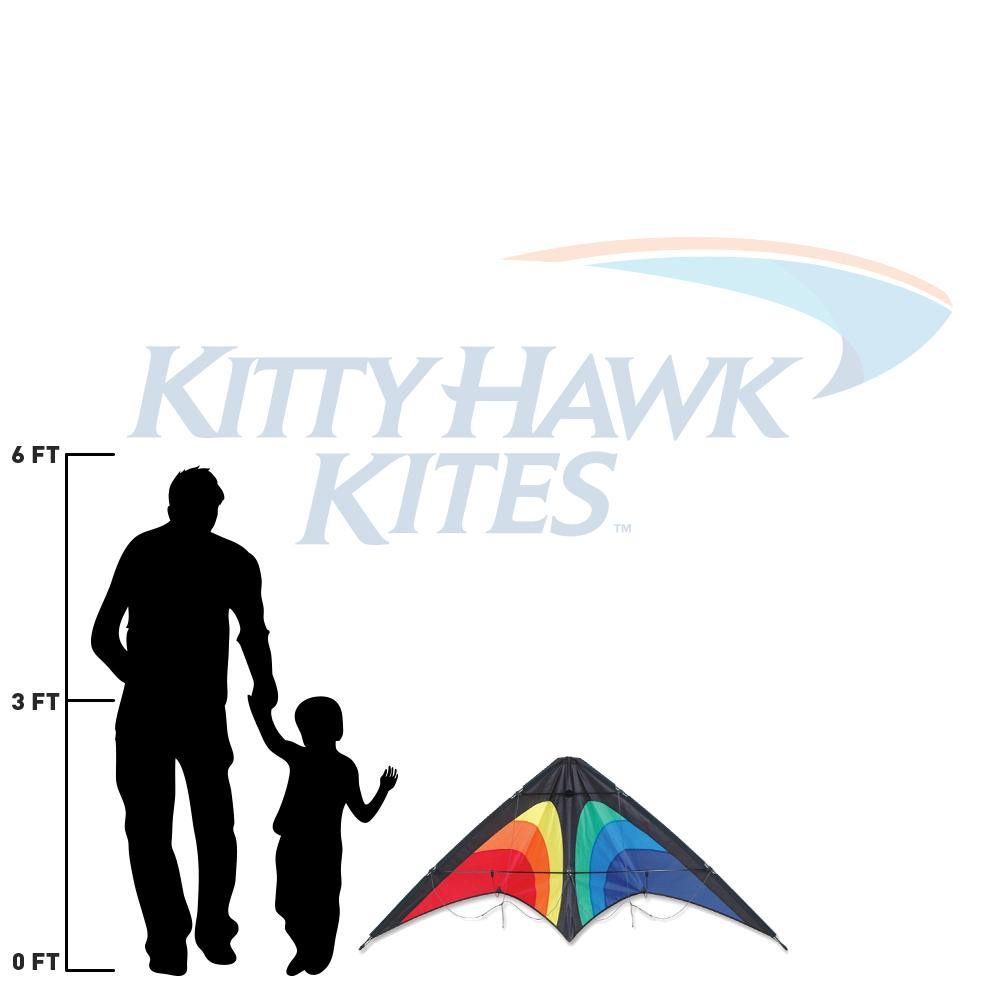 Premier osprey dual line stunt kite size and scale relative to adult and child