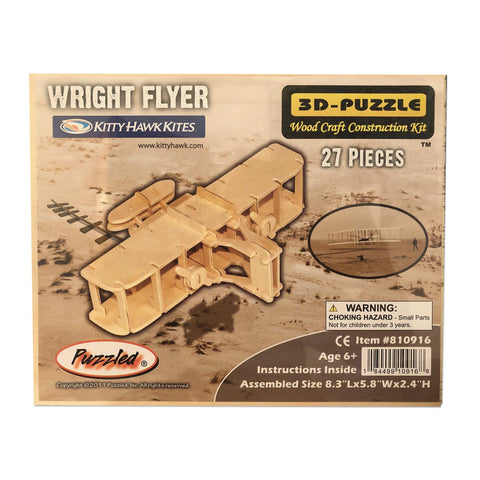 Wright Flyer Wooden 3-D Puzzle - Kitty Hawk Kites Online Store