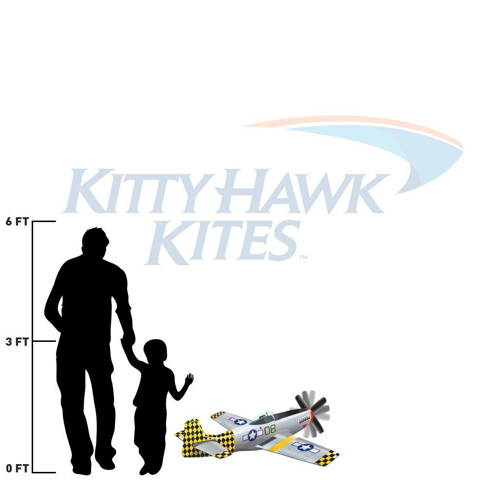 P-51 Mustang SuperSize 3-D Airplane Kite - Kitty Hawk Kites Online Store