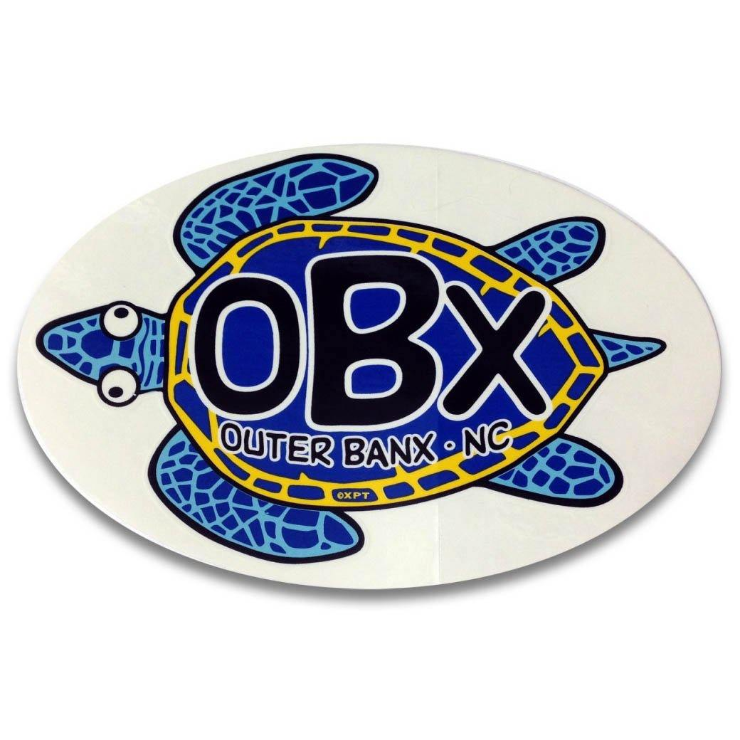 Oval OBX Turtle Sticker