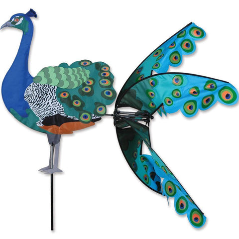 Peacock Bird Wind Spinner