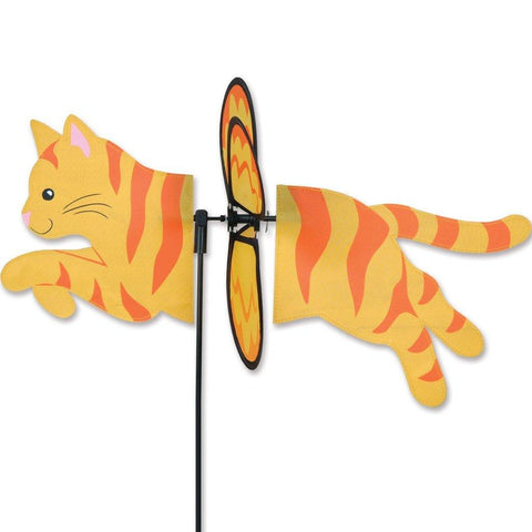 Yellow & Orange Cat Petite Wind Spinner