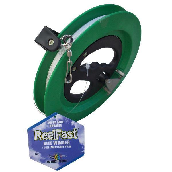 Reel Fast Kite Line Winder With 80lb x 500ft Line