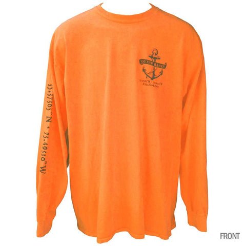 Outer Banks Anchor Compass Neon Long Sleeve - 2X