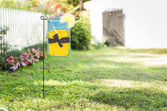 Sweet Summer Burlap Garden Flag