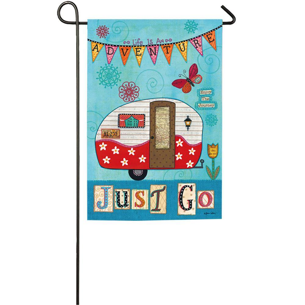 Just Go Garden Flag