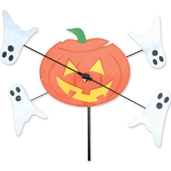Pumpkin & Ghost 10in Halloween Whirligig Wind Spinner