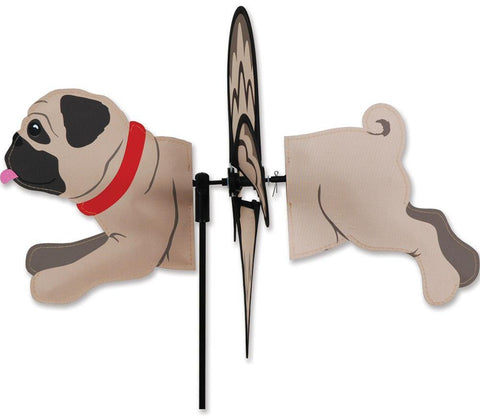 Pug Dog Petite Wind Spinner