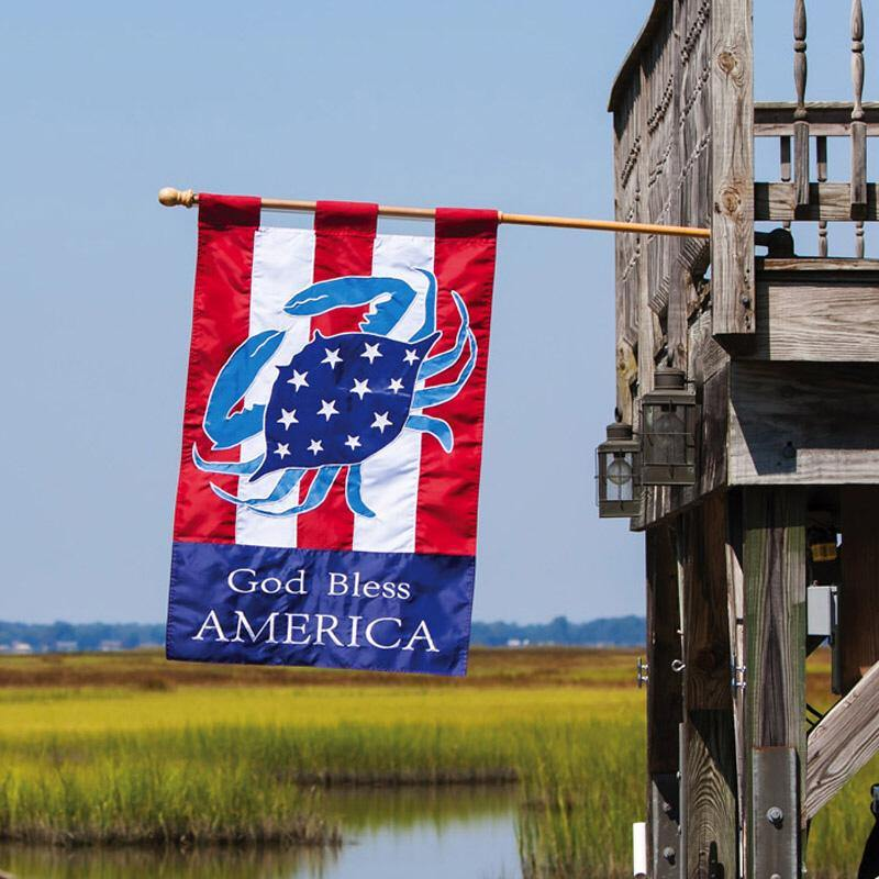 Bless America Crab House Flag