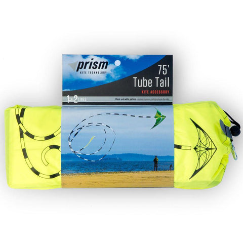 Black/White 75 Foot Kite Tube Tail