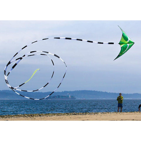 Black/White 75 Foot Kite Tube Tail - Kitty Hawk Kites Online Store