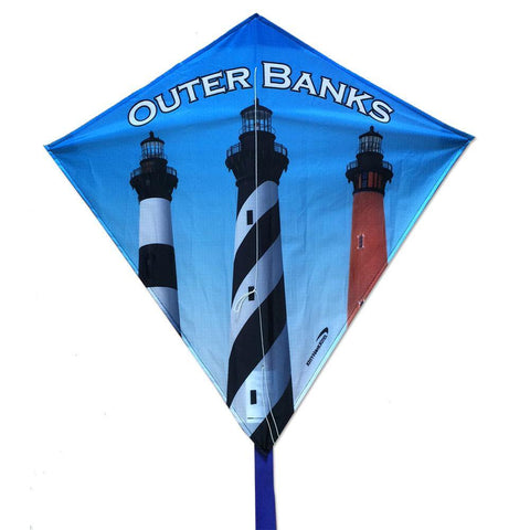 Outer Banks Lighthouses Souvenir Diamond Kite - Kitty Hawk Kites Online Store
