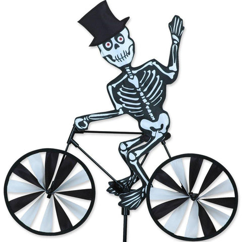 Skeleton On Bike 20 Inch Wind Spinner
