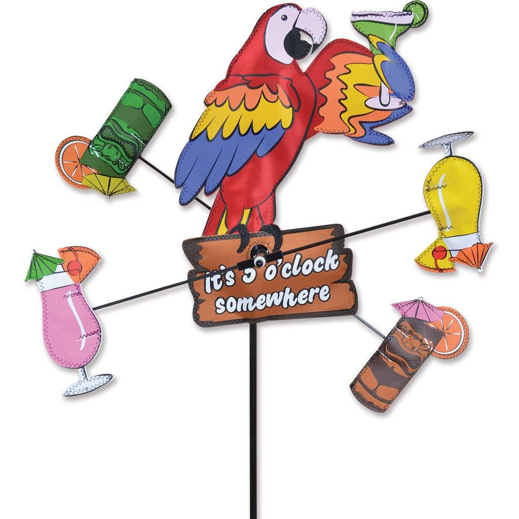 Island Parrot 12 Inch Whirligig Wind Spinner