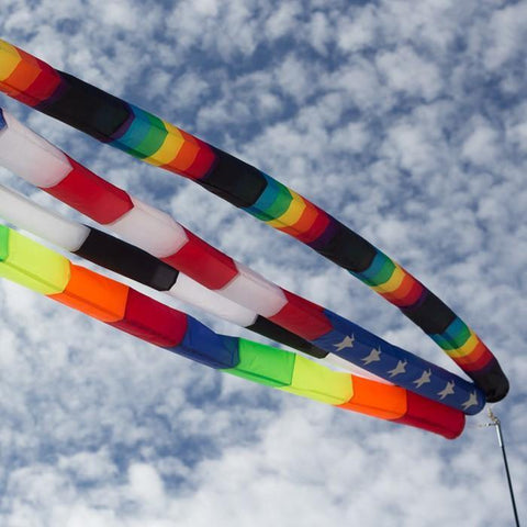 20 Foot Rainbow Tube Kite Tail - Kitty Hawk Kites Online Store