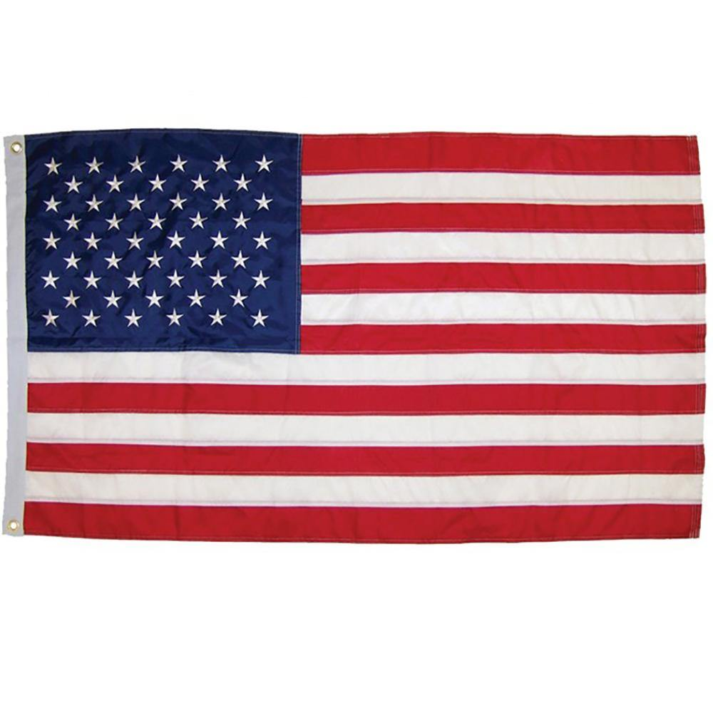 US Flag Embroidered 3x5 Foot Grommeted Flag