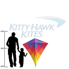 Vertical Visuals Malay Diamond Kite - Sunset