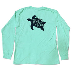 This Is My Happy Place OB Turtle Long Sleeve Tee - Kitty Hawk Kites Online Store