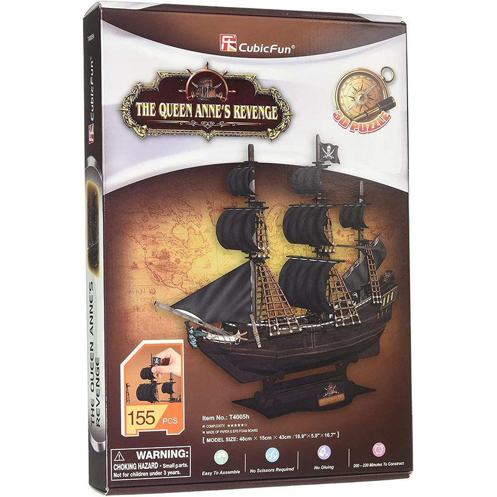 Queen Anne's Revenge 3D Puzzle - Kitty Hawk Kites Online Store