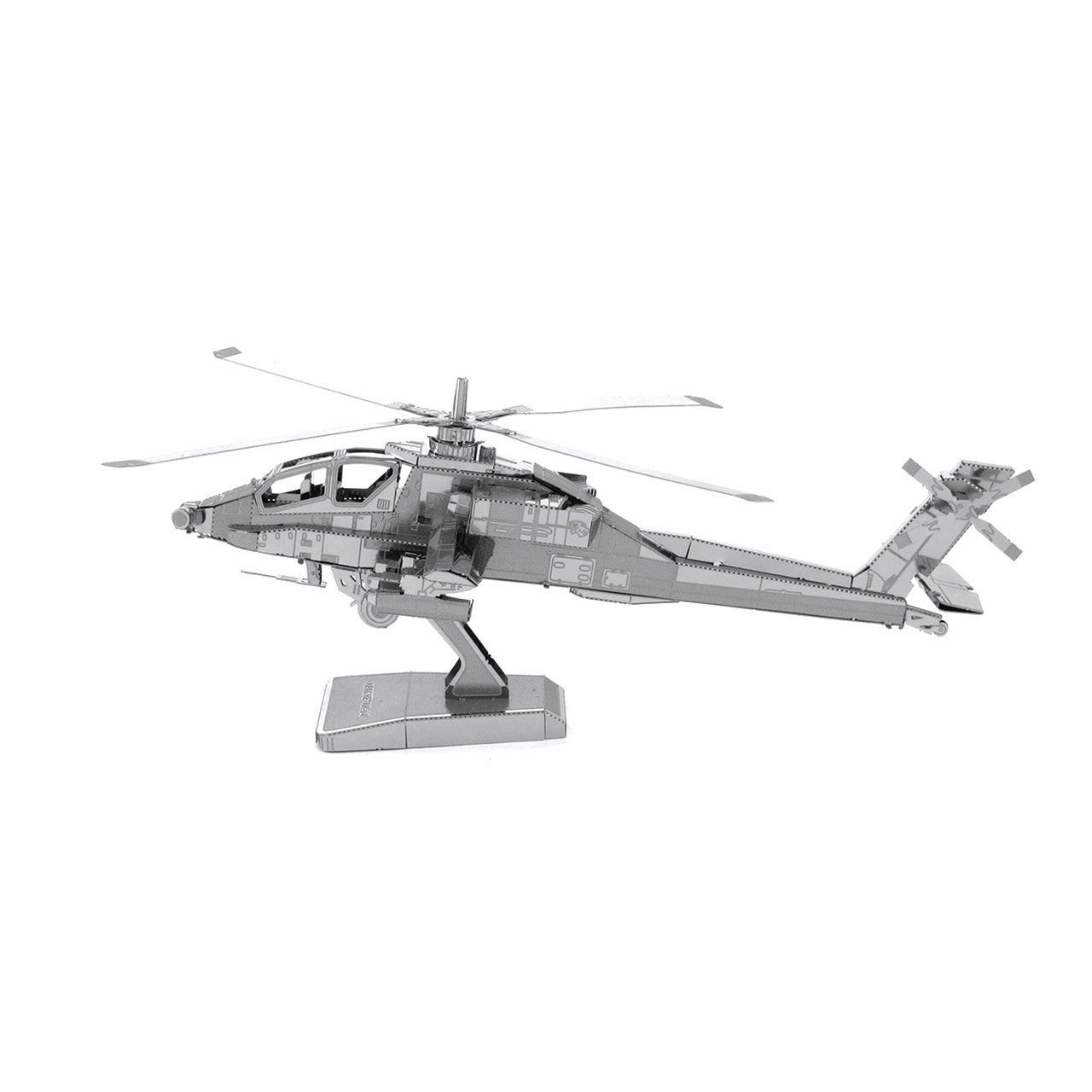 Metal Earth AH-64 Apache Helicopter 3D Model Kit
