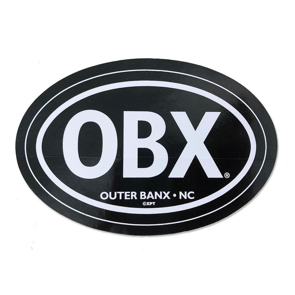 OBX Black Oval Sticker
