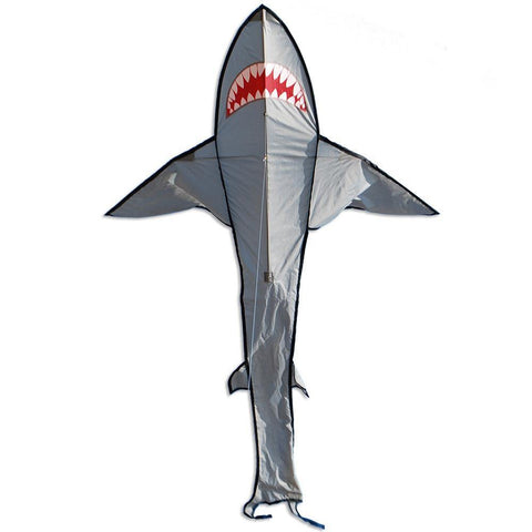 7 Foot Grey Shark Kite - Custom KHK Color - Kitty Hawk Kites Online Store