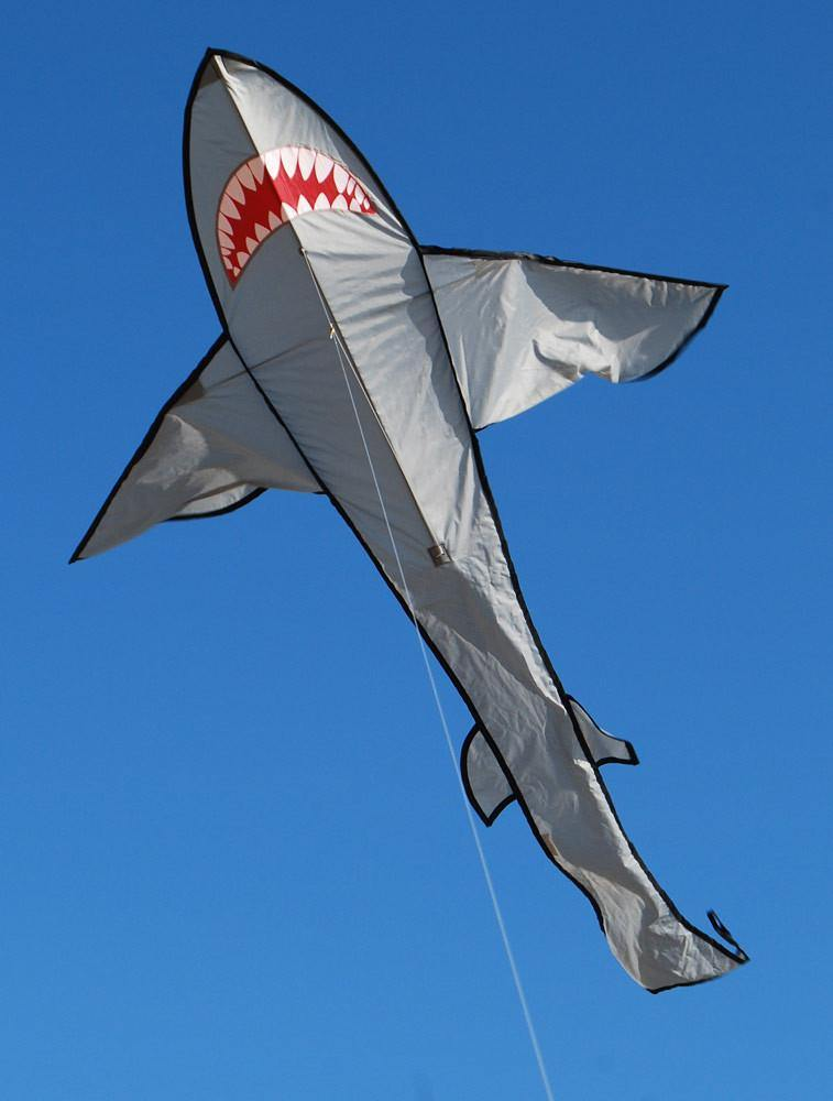 7 Foot Grey Shark Kite - Custom KHK Color
