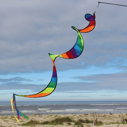 48 Inch Rainbow Stripe Twister Tail w/ Streamers - Kitty Hawk Kites Online Store