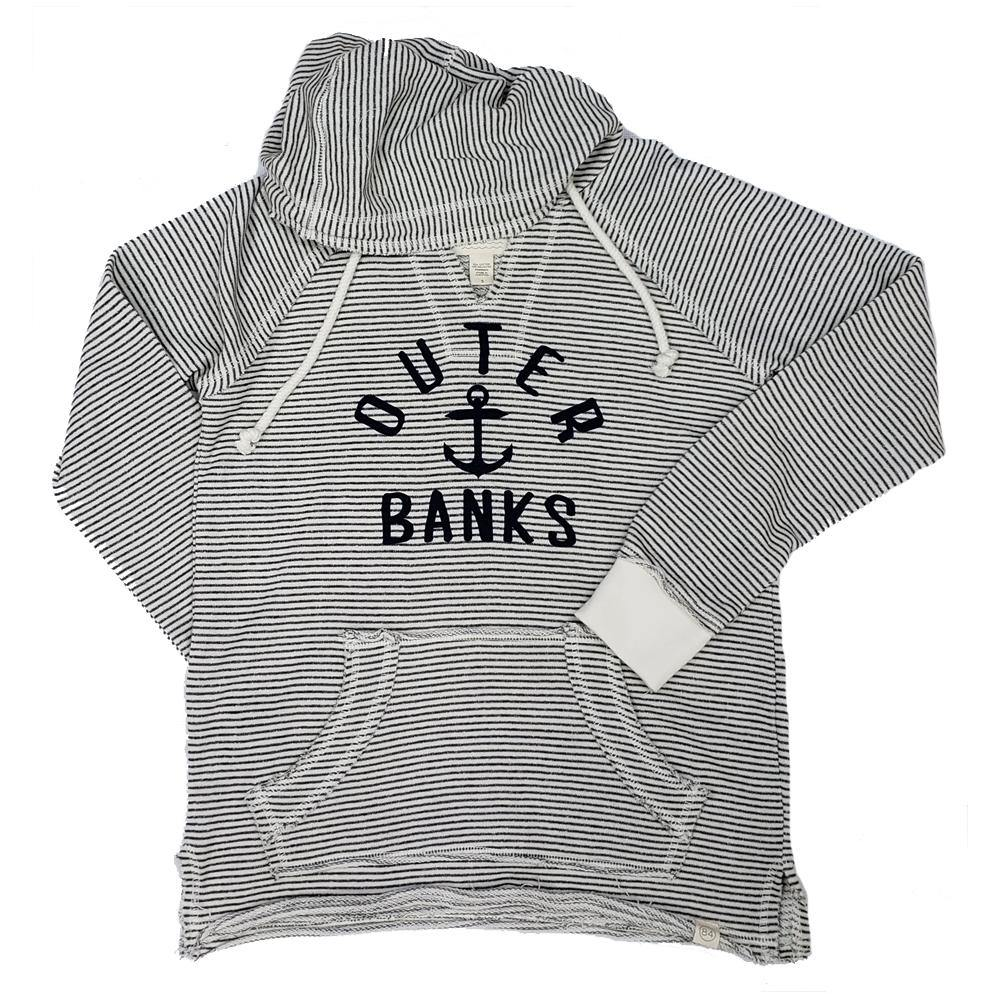 Outer Banks Striped Baffled Anchor Hoodie
