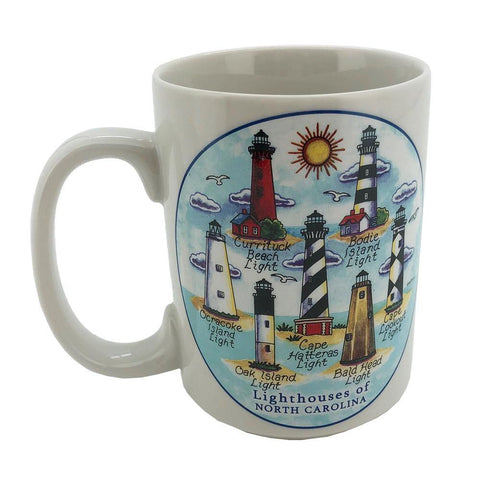 Lighthouses of North Carolina Mug - Kitty Hawk Kites Online Store