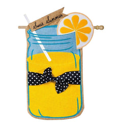 Sweet Summer Burlap House Flag