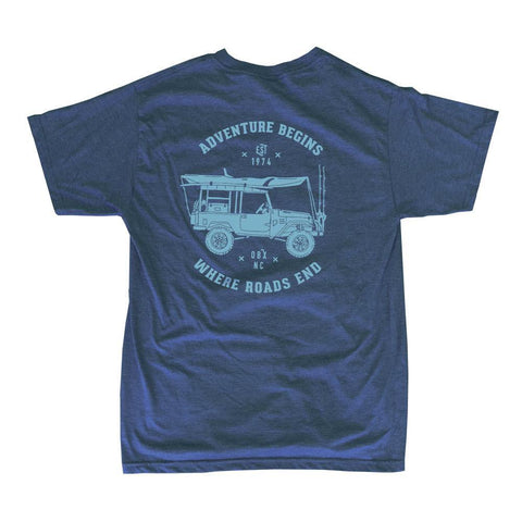 Adventure Begins Jeep Bi-Blend Short Sleeve Shirt