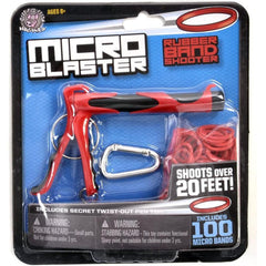 Red Micro Blaster Rubber Band Launcher