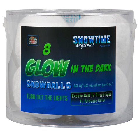 Snowtime Glow Snowballs 8-Pack