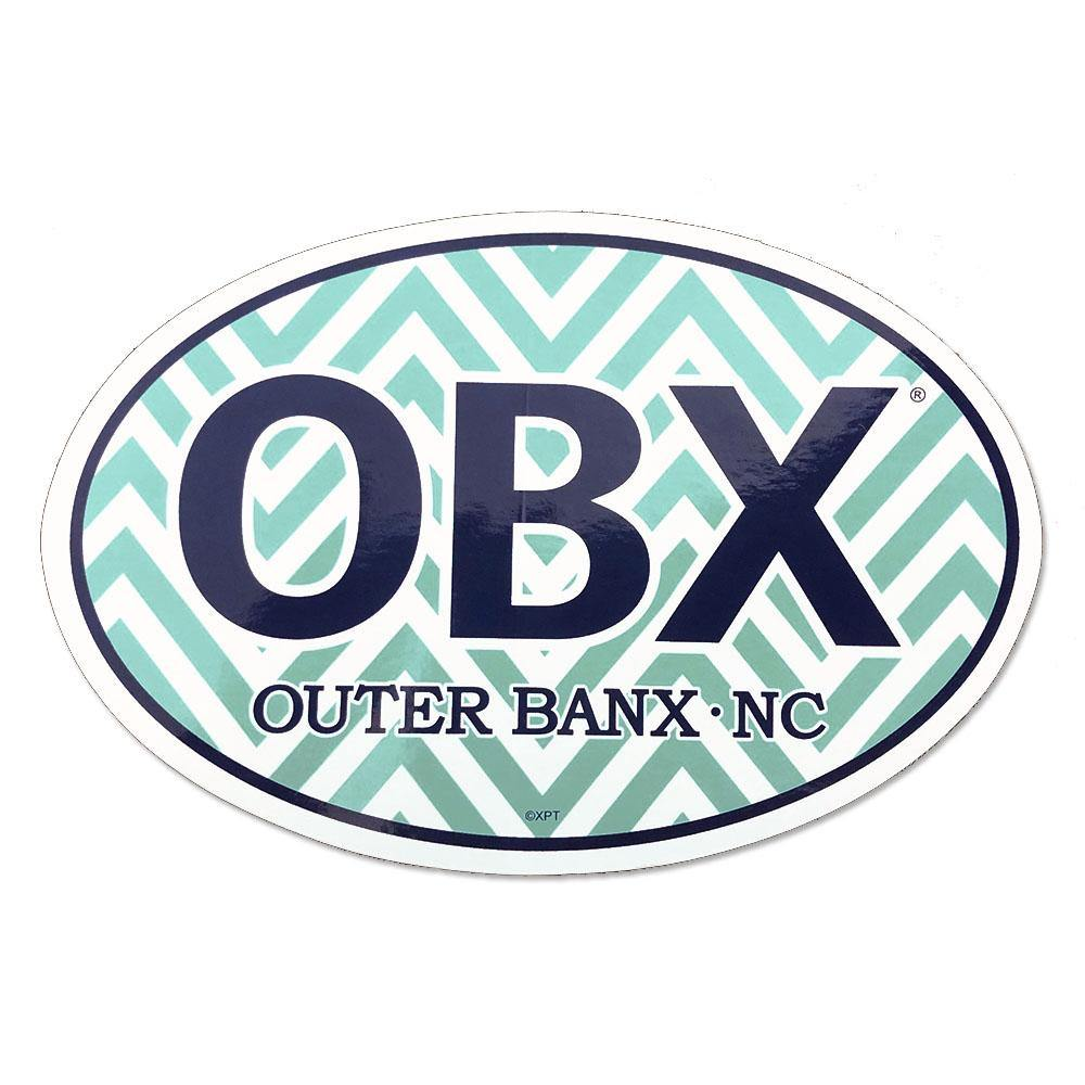 OBX Chevron Oval Sticker
