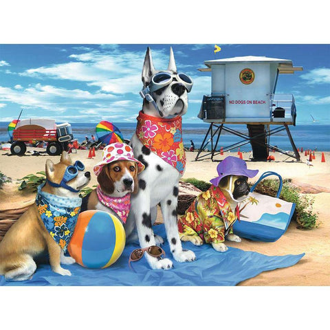 No Dogs on the Beach Puzzle - Kitty Hawk Kites Online Store