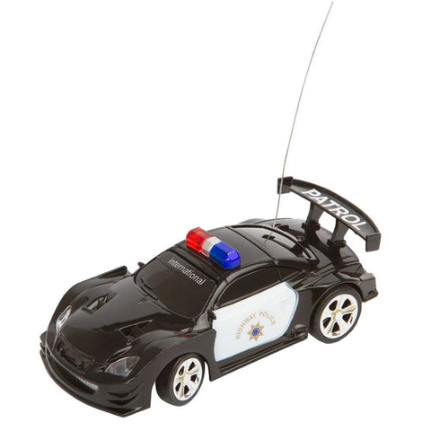 RC Mini Black and White Police Car