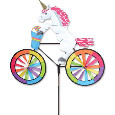 Unicorn On Bike 30 Inch Wind Spinner