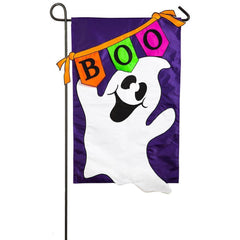 Boo Banner Applique Garden Flag