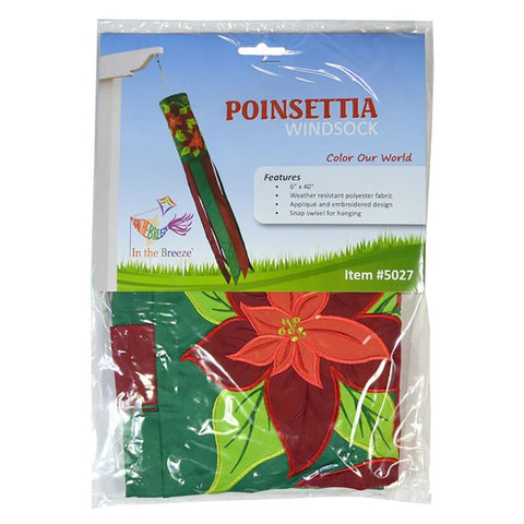 Poinsettia 40 Inch Windsock