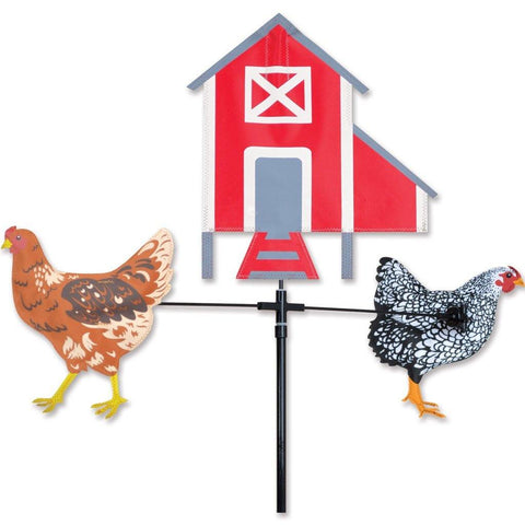 Chickens & Hen House Carousel Spinner