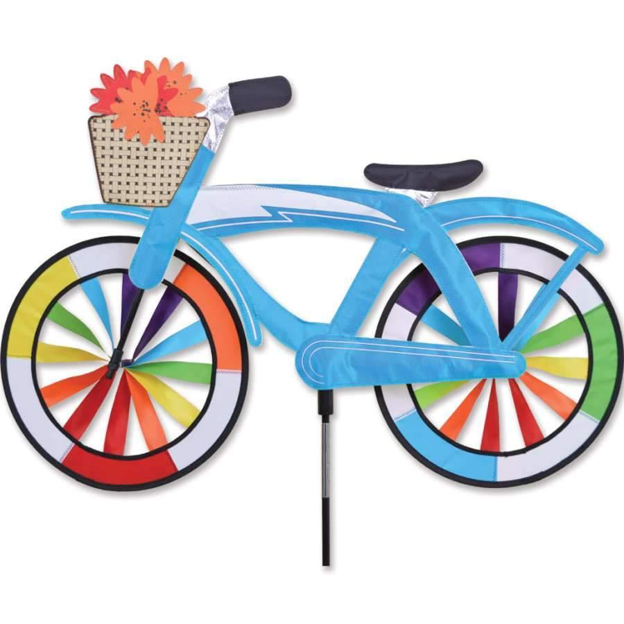 30 Inch Blue Classic Cruiser Bike Wind Spinner