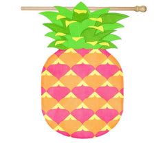 Pineapple Shaped House Burlap Flag - Kitty Hawk Kites Online Store