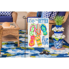 Life Is Better In Flip Flops Linen Garden Flag